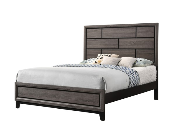 Crown Mark Akerson Grey Twin Bed CRW-B4620-T-Bed