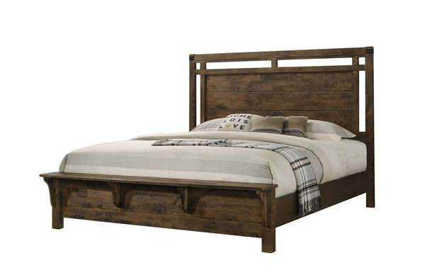 Crown Mark Curtis Brown Panel Beds CRW-B4810-BED-VAR