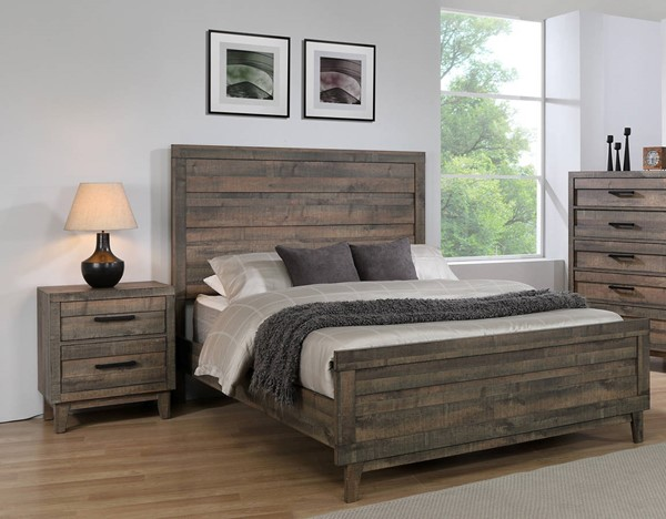 Crown Mark Tacoma Wood 2pc Bedroom Set with King Bed CRW-B8280-BR-S4
