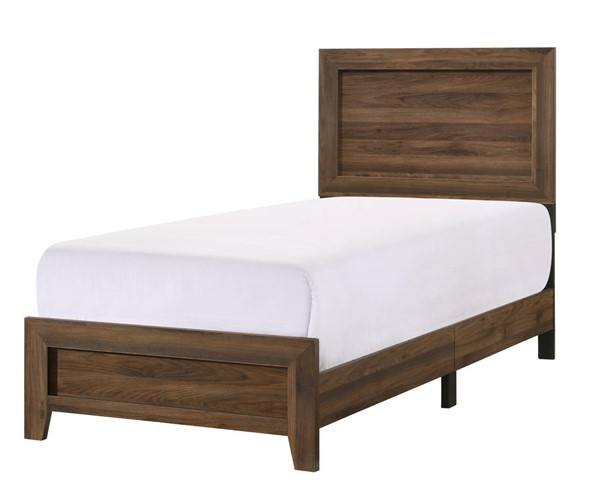 Crown Mark Millie Brown Cherry Twin Bed CRW-B9250-T-BED