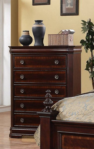 Crown Mark Charlotte Vintage Cherry Chest CRW-B8300-4