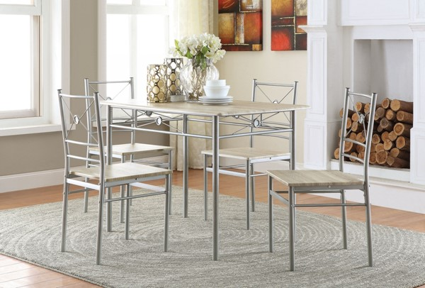 Coaster Furniture Silver 5pc Set CST-100035