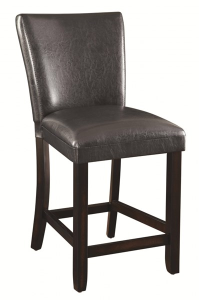 2 Cappuccino Wood Leatherette 24 Inch Counter Height Stools CST-100055