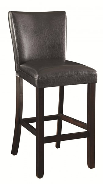 2 Contemporary Cappuccino Wood Leatherette 29 Inch Height Bar Stools CST-100056