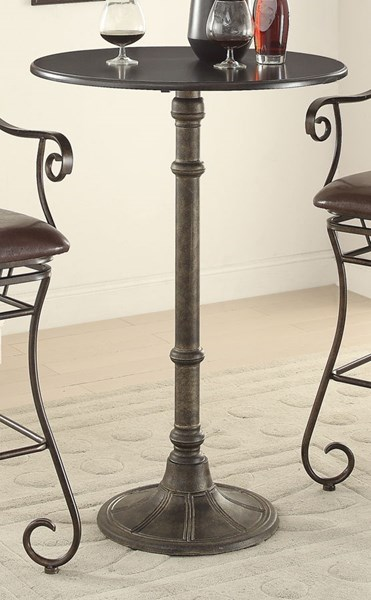 Oswego Traditional Bronze Metal Counter Height Table CST-100064