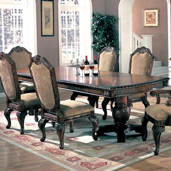 Saint Charles Traditional Deep Brown Wood Dining Table CST-100131