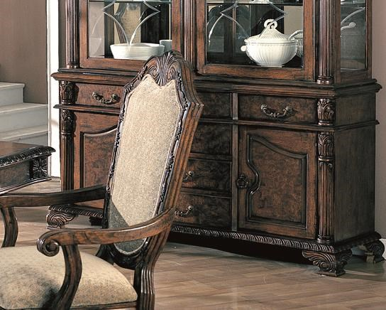 Saint Charles Traditional Deep Brown Wood Buffet Only CST-100134B