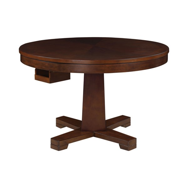 Coaster Furniture Marietta Tobbaco Round Game Table CST-100171