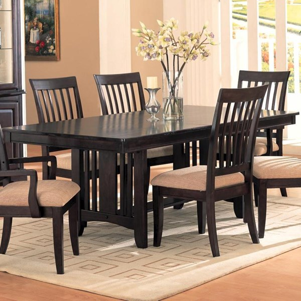 Monaco Transitional Cappuccino Wood Dining Table CST-100181