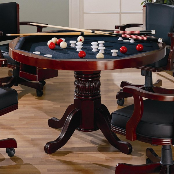Coaster Furniture Mitchell Merlot Game Table CST-100201