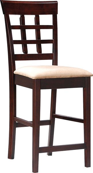2 Traditional Mocha Fabric 24 Inch Seat Height Bar Stools CST-100209