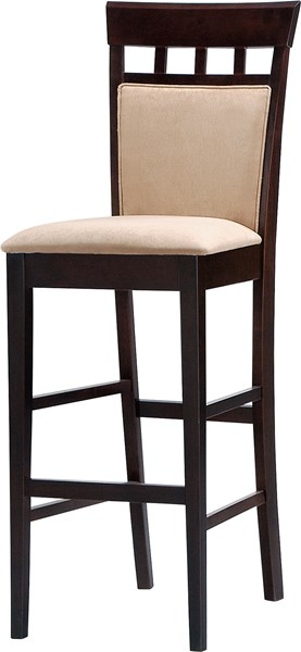 2 Casual Cappuccino Wood Fabric Bar Stool CST-100220