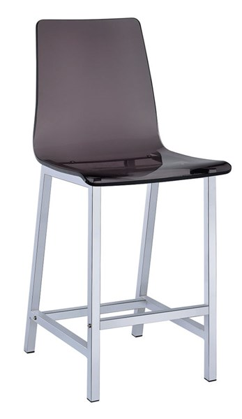 2 Black Acrylic 24 Inch Height Solid Back Bar Stool CST-100266