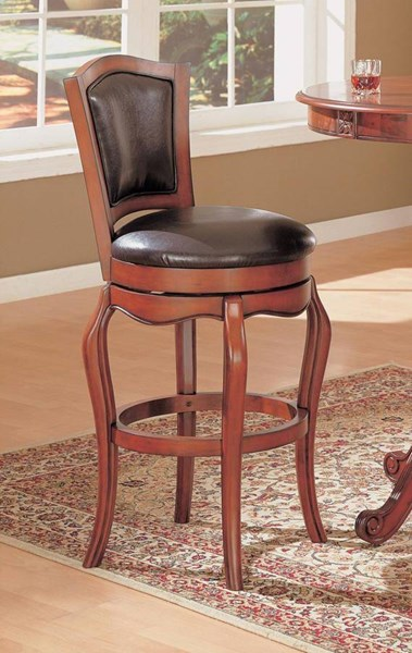 Contemporary Cherry Brown Wood 29 Inch Height Bar Stool CST-100269