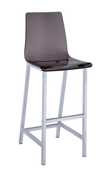 2 Smoke Acrylic 30 Inch Height Solid Back Bar Stools CST-100296