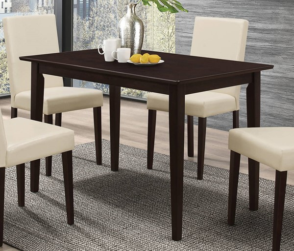 Clayton Coffee Table: Coaster Furniture Clayton Cappuccino Dining Table