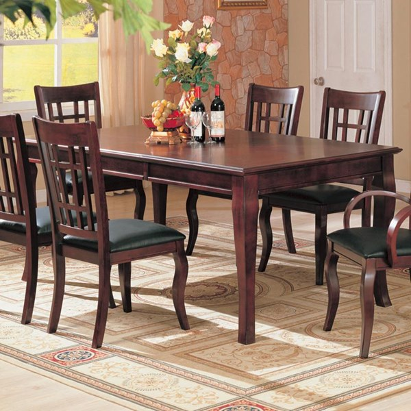 Newhouse Transitional Warm Brown Wood Dining Table CST-100500