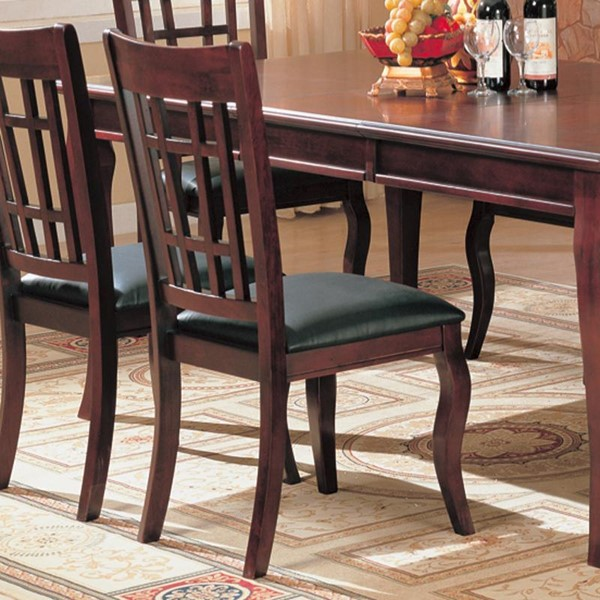2 Newhouse Transitional Warm Brown Side Chairs CST-100502