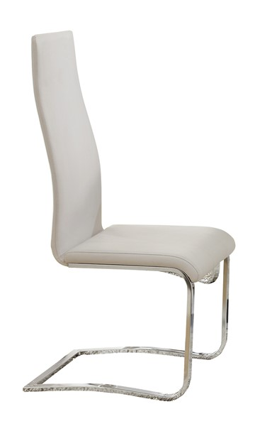 4 Nameth Contemporary White Wood Solid Back Armless Dining Chairs CST-100515WHT