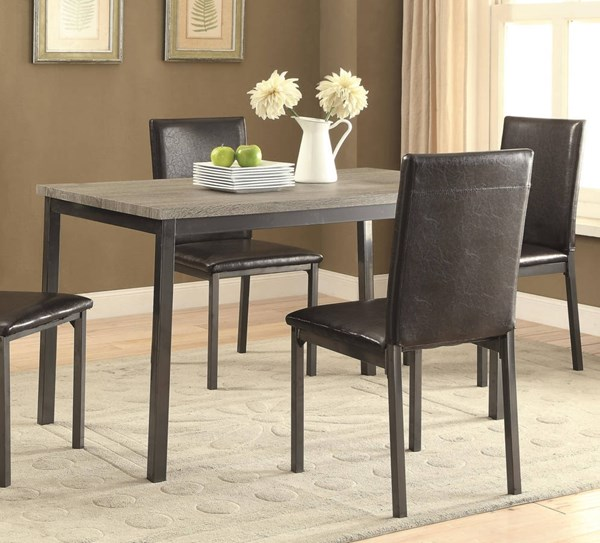 Coaster Furniture Garza Black Dining Table CST-100611