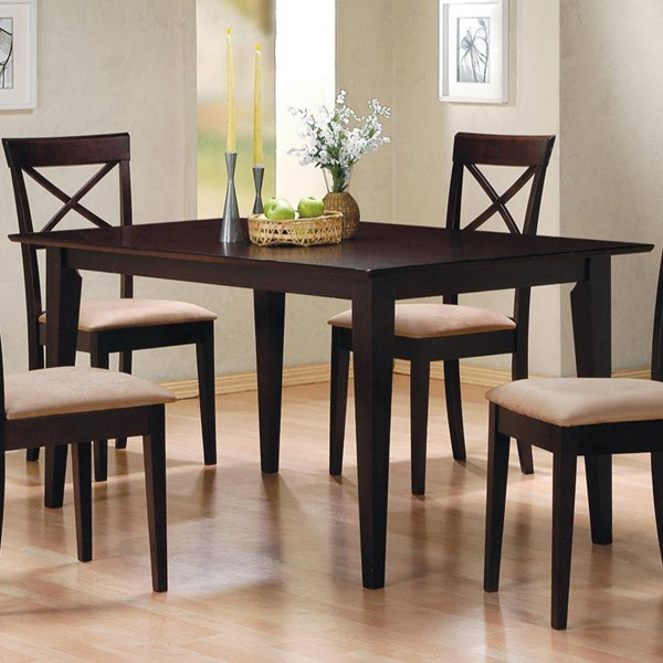 Casual Cappuccino Wood Rectangle Dining Table CST-100771
