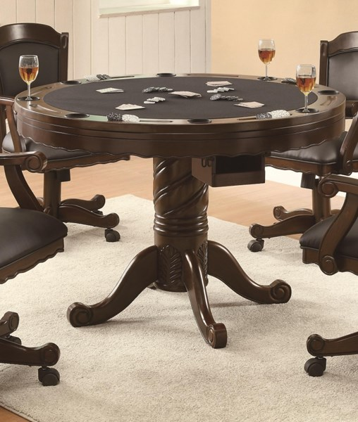 Contemporary Brown Cherry Wood Game Table CST-100871
