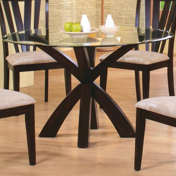 Contemporary Cappuccino Wood Cross Leg Table CST-101071