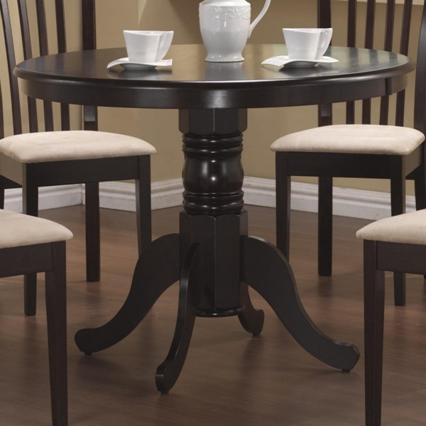 Casual Cappuccino Wood Round Dining Table CST-101081