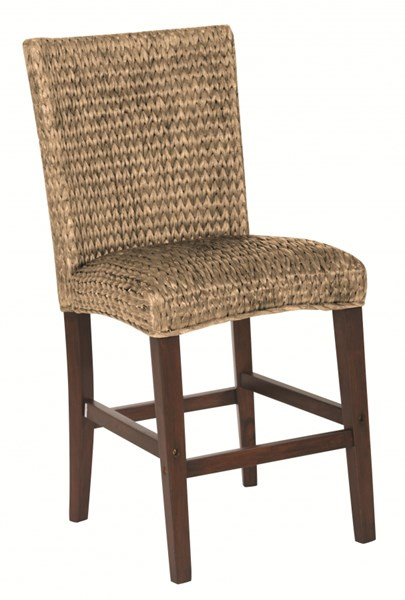 2 Westbrook Vintage Brown Natural Wood Woven Counter Height Stools CST-101095
