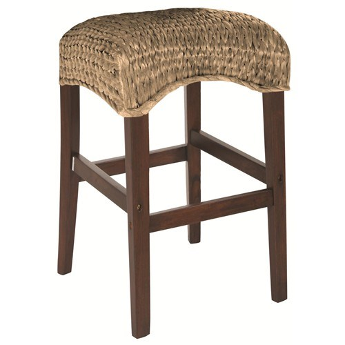 2 Westbrook Natural Wood Woven 30 Inch Height Stools CST-101099