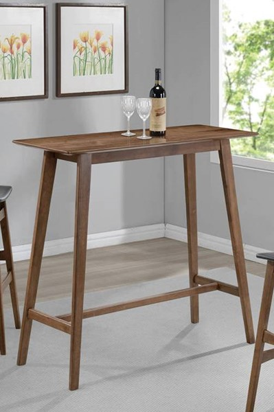 Modern Crafted Walnut Veneer Solid Hardwood Rectangle Bar Table CST-101436