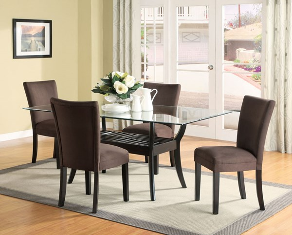 Bloomfield Cappuccino Chocolate Wood 5pc Dining Room Set CST-101491T-96