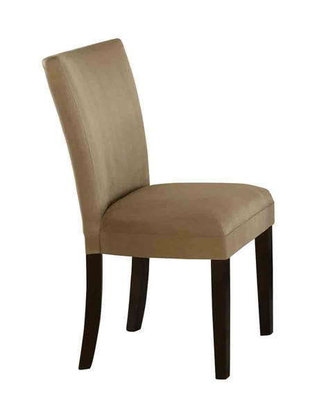 2 Bloomfield Transitional Taupe Wood Fabric Parson Chairs CST-101494
