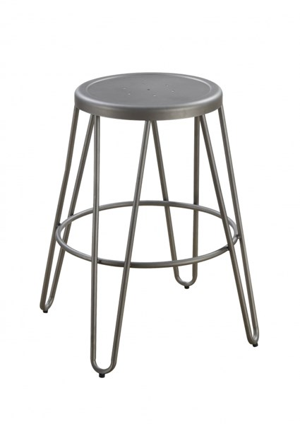 4 Galway Gunmetal Hair Pin Style Legs 24 Inch Counter Height Stools CST-101545