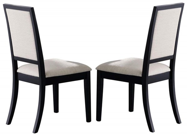 2 Coaster Furniture Louise Cream Fabric Side Chairs CST-101562