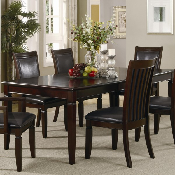 Ramona Transitional Nut Brown Wood Extension Leaf Dining Table CST-101631