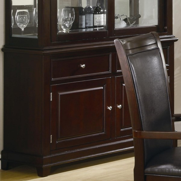 Ramona Transitional Nut Brown Wood Buffet Only CST-101634B