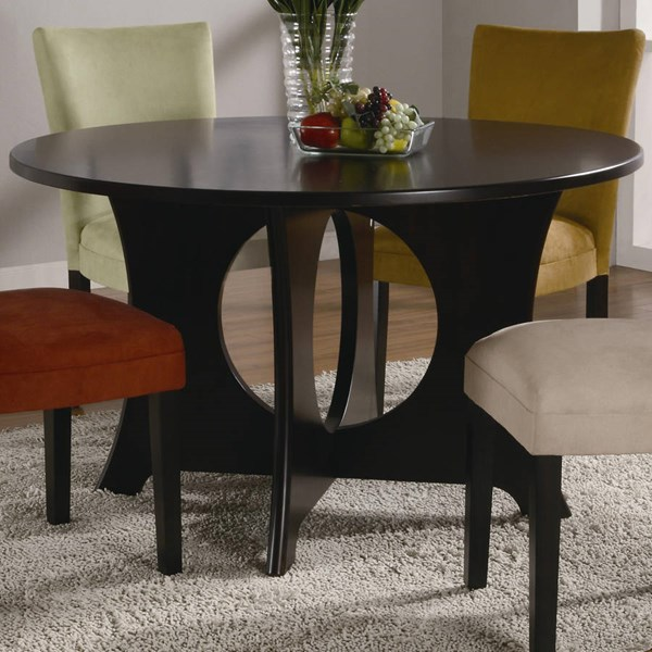 Castana Transitional Cappuccino Wood Dining Table CST-101661