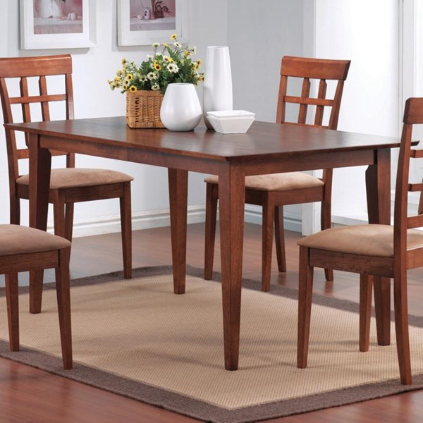 Casual Walnut Solid Wood Rectangle Dining Table CST-101771
