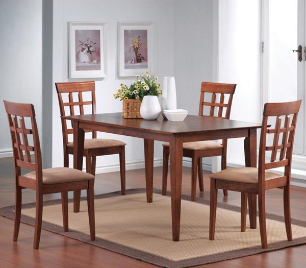 Casual Walnut Wood Rectangale Dining Room Set CST-G101771
