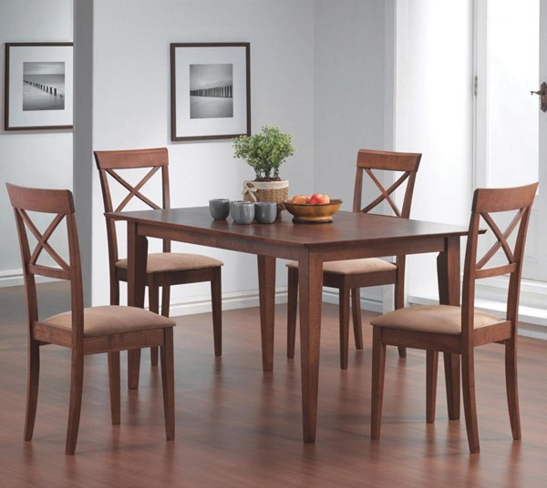 Casual Walnut Solid Wood 5pc Dining Room Set CST-101771SET-3