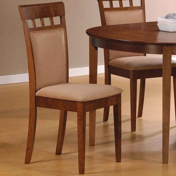 2 Casual Walnut Wood Armless Dining Side Chairs CST-101773