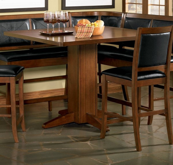 Lancaster Casual Dark Brown Wood Counter Height Table CST-101791