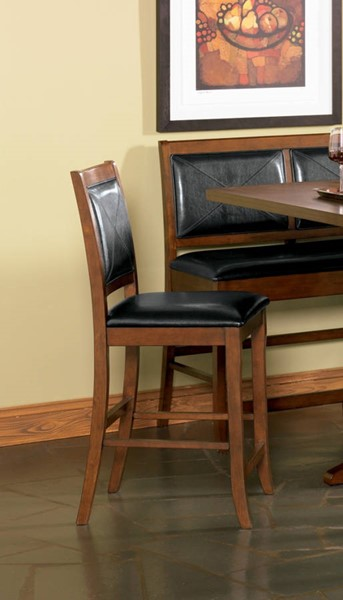2 Lancaster Casual Dark Brown Wood Counter Height Stools CST-101792