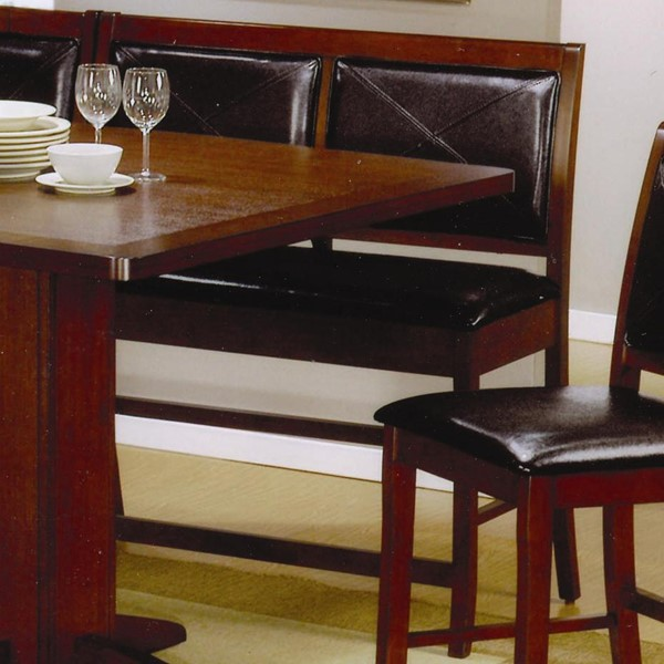 2 Lancaster Casual Dark Brown Wood Counter Height Benches CST-101793