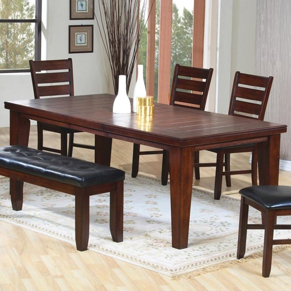Imperial Antique Brown Wood Ladder Back Dining Table CST-101881