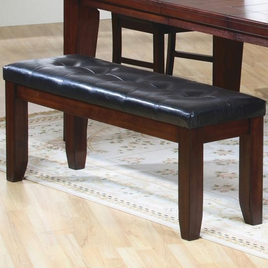 Imperial Antique Brown Wood Fabric Bench CST-101883