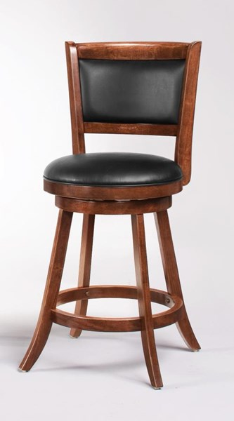 2 Chestnut Wood 24 Inch Armless Bar Stools CST-101919