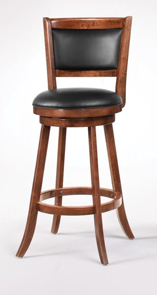 2 Chestnut Wood 29 Inch Armless Bar Stools CST-101920