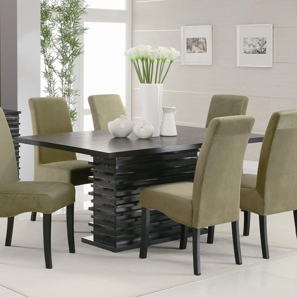Stanton Contemporary Black Wood Solid Top Table CST-102061
